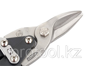 """Ножницы по металлу """"PIRANHA"""",250мм,прямой рез,сталь-CrMo,двухкомп.рукоятки// GROSS, фото 2"""