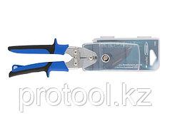 """Ножницы по металлу""""PIRANHA"""",усиленные,255 мм,прямой и правый рез,сталь-СrMo,двухкомп.рукоятки//GROSS"""