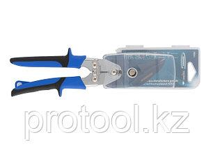 """Ножницы по металлу""""PIRANHA"""",усиленные,255 мм,прямой и правый рез,сталь-СrMo,двухкомп.рукоятки//GROSS, фото 2"""