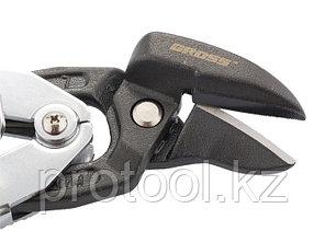 """Ножницы по металлу""""PIRANHA""""усиленные,255 мм,прямой и левый рез,сталь-СrMo,двухкомп.рукоятки//GROSS, фото 2"""
