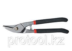 Ножницы по металлу, 225 мм, для фигурного реза, обливные рукоятки// MATRIX