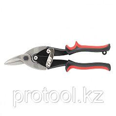 Ножницы по металлу, 250 мм, левые, обрезиненные рукоятки// MATRIX