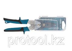 """Ножницы по металлу""""PIRANHA""""усиленные,255 мм,прямой рез,сталь-СrMo,двухкомпонентные рукоятки//GROSS"""