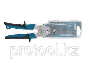 """Ножницы по металлу""""PIRANHA""""усиленные,255 мм,прямой рез,сталь-СrMo,двухкомпонентные рукоятки//GROSS, фото 2"""