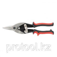 Ножницы по металлу, 250 мм, пряморежущие, обрезиненные  рукоятки// MATRIX