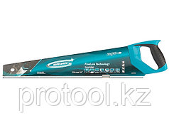"Ножовка по дереву ""PIRANHA"", 550 мм, 11-12 TPI, зуб - 3D, каленый зуб, 2-х комп. рук-ка// GROSS"