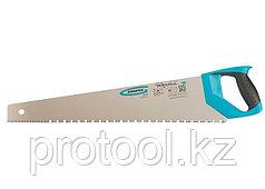"""Ножовка по дереву """"PIRANHA"""",550 мм,сегм.строение рабочей кромки,7-8 TPI,зуб-3D,2-х к. рук-ка// GROSS"""
