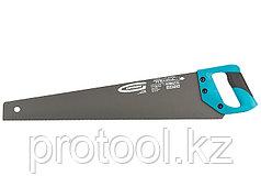 """Ножовка по дереву """"PIRANHA"""",550 мм,11-12 TPI,зуб-3D,кал.зуб,тефл.покр.полотна,2-х комп.рук-ка//GROSS"""