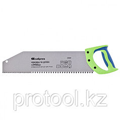 """Ножовка по дереву """"Зубец"""", 400 мм, шаг зуба 10 мм, зуб 2D, калёный зуб, 2-х комп. рукоятка// Сибртех"""