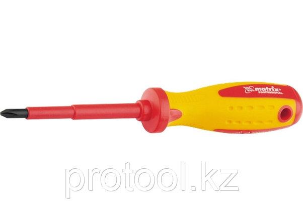 Отвертка Insulated, Ph1 x 75 мм, CrMo, до 1000 В, двухкомп. рукоятка// MATRIX PROFESSIONAL, фото 2