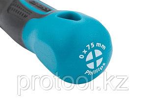 Отвертка PH0 x 75 мм, S2, трехкомпонентная рукоятка//GROSS, фото 2