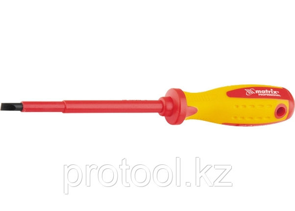 Отвертка Insulated, SL6,5 x 150 мм, CrMo,  до 1000 В, двухкомп. рукоятка// MATRIX PROFESSIONAL, фото 2