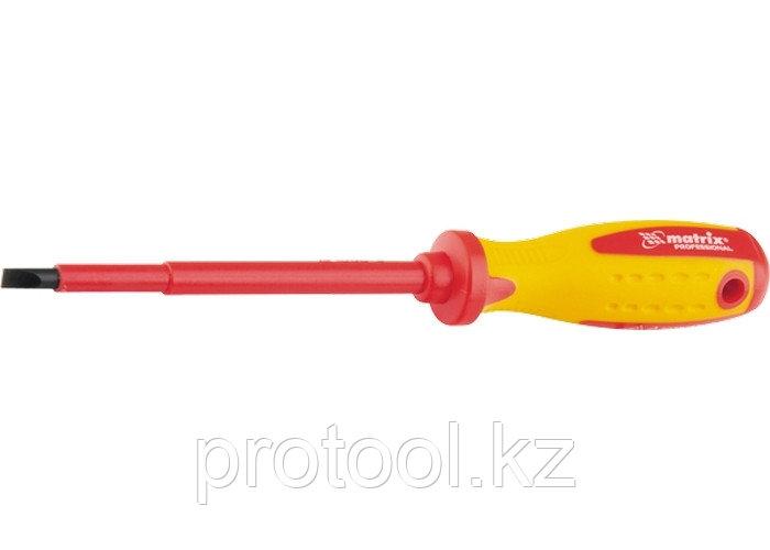 Отвертка Insulated, SL8,0 x 150 мм, CrMo, до 1000 В, двухкомп. рукоятка// MATRIX PROFESSIONAL