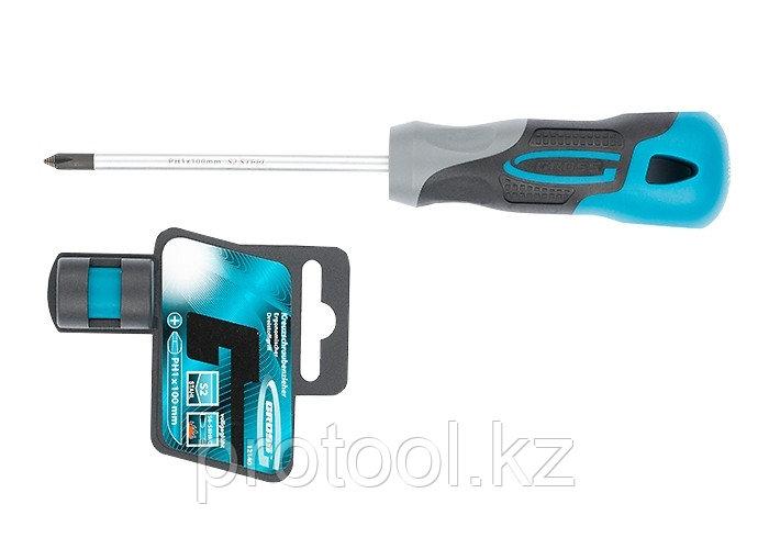Отвертка PH1 x 100мм, S2, трехкомпонентная ручка//GROSS