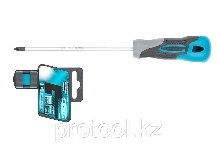 Отвертка PH1 x 150мм, S2, трехкомпонентная ручка//GROSS