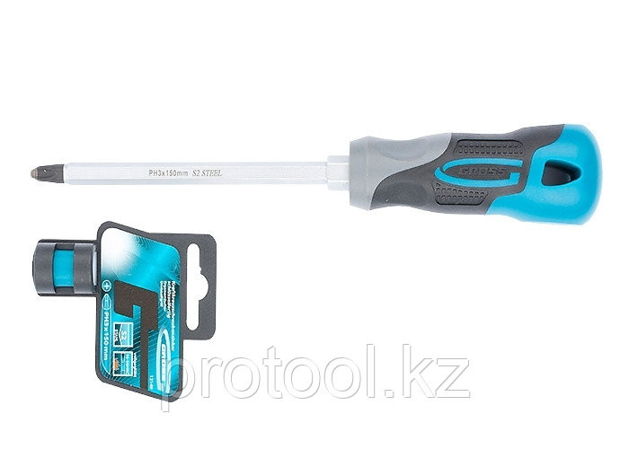 Отвертка PH3 x 150мм, S2, трехкомпонентная ручка//GROSS