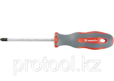Отвертка Profi, SL8,0 х 175 мм, SVСM, двухкомп. рукоятка// MATRIX, фото 2