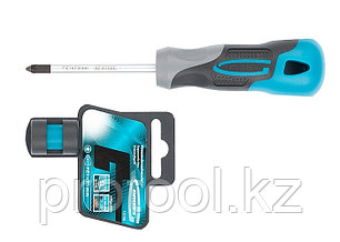 Отвертка PZ1 x 75 мм, S2, трехкомпонентная ручка//GROSS, фото 2
