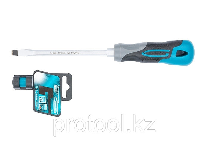 Отвертка SL8,0 x 150 мм, S2, трехкомпонентная рукоятка//GROSS