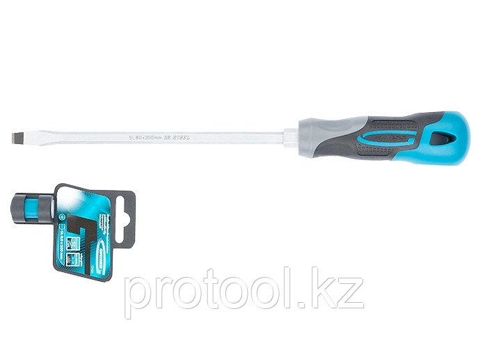 Отвертка SL8,0x 200 мм, S2, трехкомпонентная рукоятка//GROSS