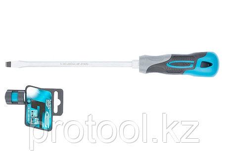 Отвертка SL8,0x 200 мм, S2, трехкомпонентная рукоятка//GROSS, фото 2