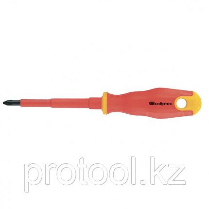 Отвертка диэлектрическая PH0*75mm, CrV, до 1000В, двухкомпонентная рукоятка//Сибртех, фото 2