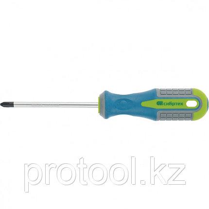 Отвертка, Ph1 х 100 мм, CrV, 3-х компонентная рукоятка //Сибртех, фото 2