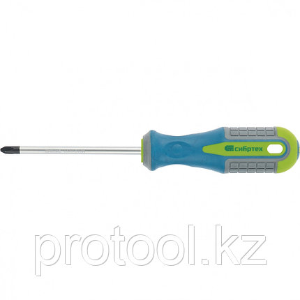 Отвертка, Ph2 х 100 мм, CrV, 3-х компонентная рукоятка //Сибртех, фото 2