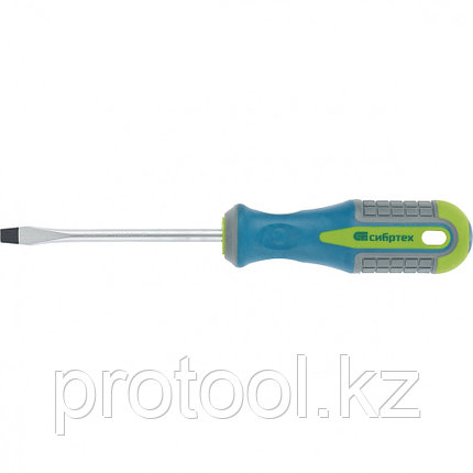 Отвертка, SL5,0 х 75 мм, CrV, 3-х компонентная рукоятка //Сибртех, фото 2
