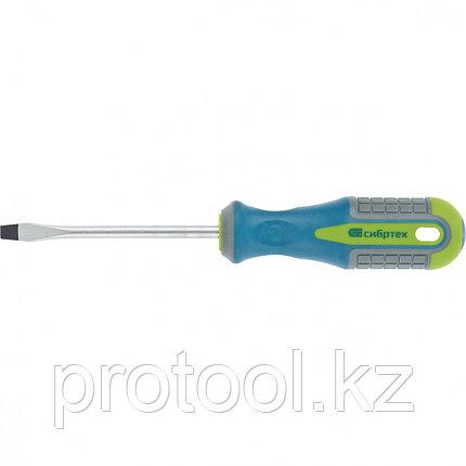 Отвертка, SL6,0 х 100 мм, CrV, 3-х компонентная рукоятка //Сибртех, фото 2