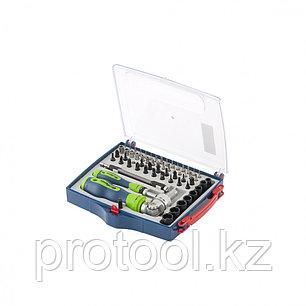 Отвертки реверсиные с набором бит, торцевых головок, 61 предм.,CrV//Сибртех, фото 2