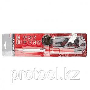 Паяльник, пласт. ABS с пониж. теплопровод, медный наконечник с долговеч. покрытием,220В,60W// MATRIX, фото 2