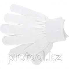 Перчатки нейлон, 13 класс, белые, XL// Россия