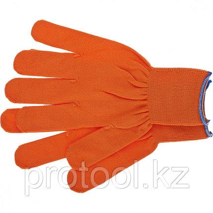 Перчатки нейлон, 13 класс, оранжевые, XL// Россия, фото 2
