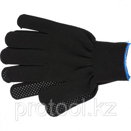Перчатки нейлон, ПВХ точка, 13 класс, чёрные, XL// Россия, фото 2