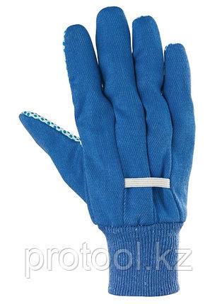 Перчатки рабочие х/б ткань с ПВХ точкой, манжет, XXL //СИБРТЕХ, фото 2