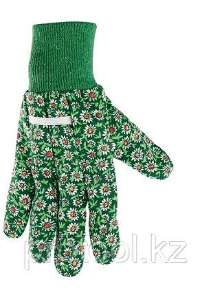 Перчатки садовые х/б ткань с ПВХ точкой, манжет, L //PALISAD, фото 2