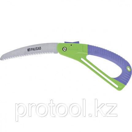 Пила садовая складная,175 мм, зуб 3D, обрезиненная рукоятка с защитной кулисой// PALISAD, фото 2