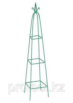 Пирамида садовая декоративная для вьющихся растений, 198 х 33 см, пирамида// PALISAD, фото 2