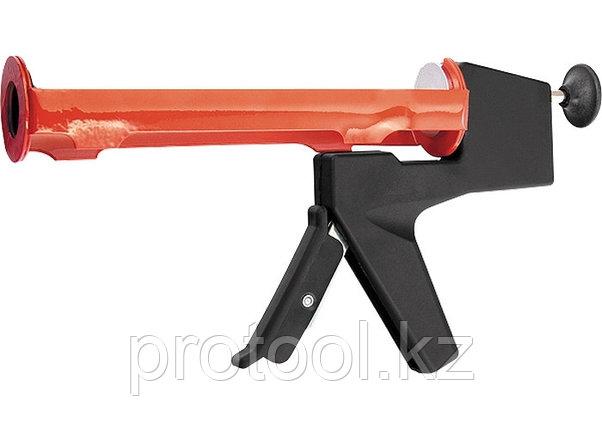 """Пистолет для герметика, 310 мл, """"полуоткрытый"""", противовес, круглый шток 8 мм// MATRIX, фото 2"""