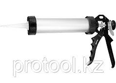 """Пистолет для герметика, 750 мл, """"закрытый"""", алюминиевый корпус, круглый  шток 8 мм// SPARTA"""