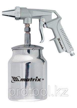 Пистолет пескоструйный с нижним бачком, пневматический// MATRIX, фото 2