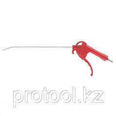 Пистолет продувочный с удлиненным изогнутым соплом, пневматический, 270 мм// MATRIX