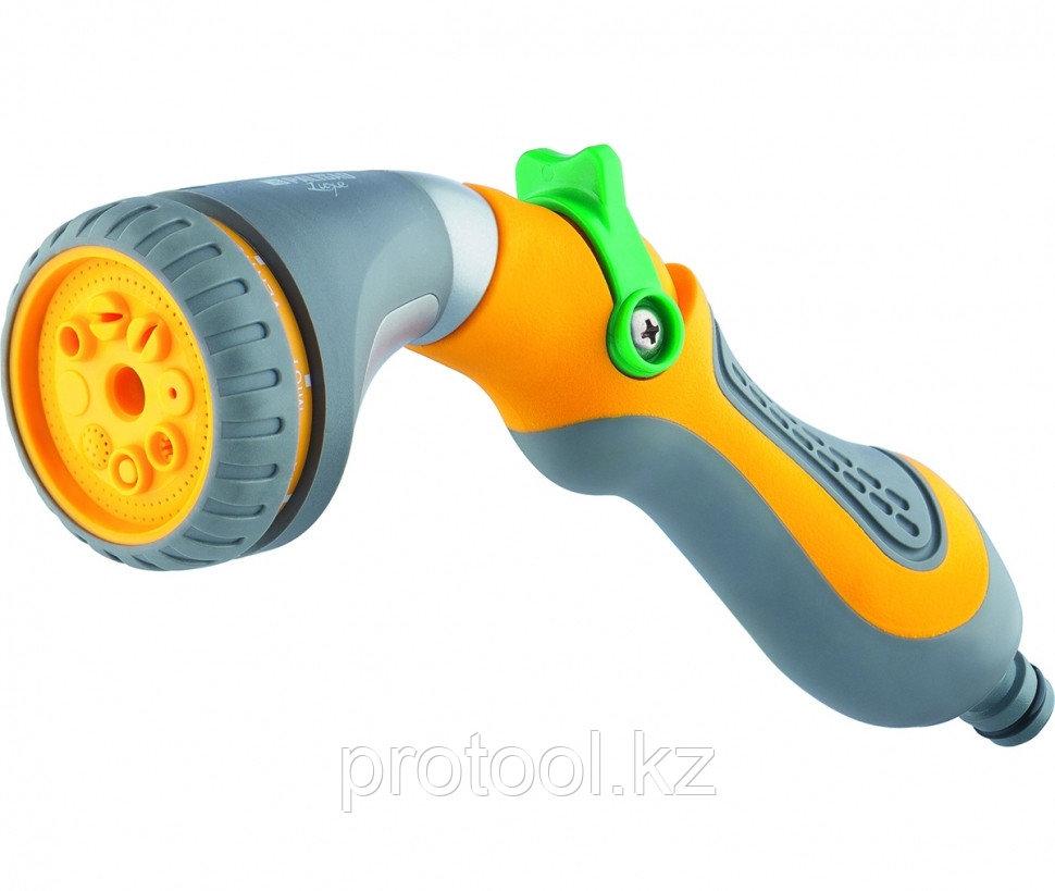 Пистолет-распылитель, 8-режимный, плавающий курок, эргономичная рукоятка // PALISAD LUXE