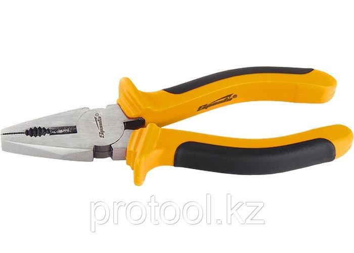 Плоскогубцы, Comfort, 160 мм, комбинированные шлифованные, двухкомпонентные рукоятки// SPARTA