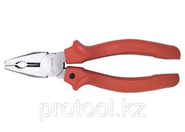 Плоскогубцы, Standard, 200 мм, комбинированные шлифованные, пластмассовые рукоятки// MATRIX, фото 2