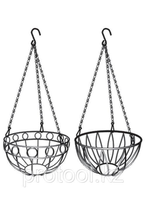 Подвесное кашпо, диаметр 26 см, высота с цепью и крюком 53,5 см// PALISAD