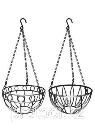 Подвесное кашпо, диаметр 26 см, высота с цепью и крюком 53,5 см// PALISAD, фото 2