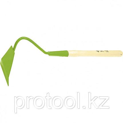 Полольник малый, изогнутое крепление, деревянная рукоятка// СИБРТЕХ Россия, фото 2