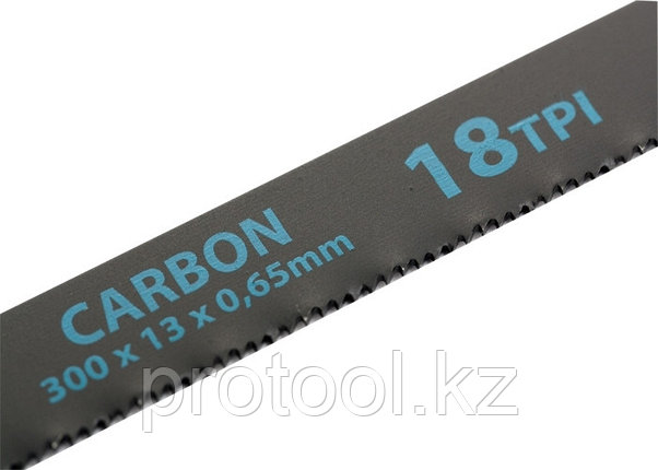 Полотна для ножовки по металлу, 300 мм, 18TPI, Carbon, 2 шт.// GROSS, фото 2